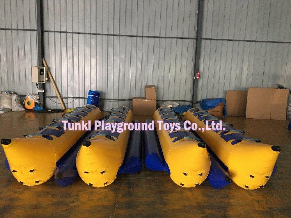 Double 12 sièges gonflable banana boat, gonflable artisanat vol canoë, caoutchouc bateau kayak yatch