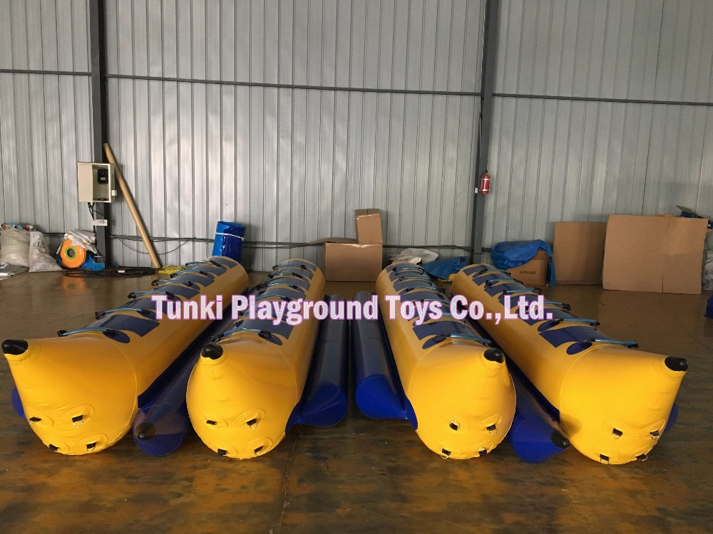 double 12 seats inflatable banana boat, inflatable craft flying canoe, rubber boat kayak yatch