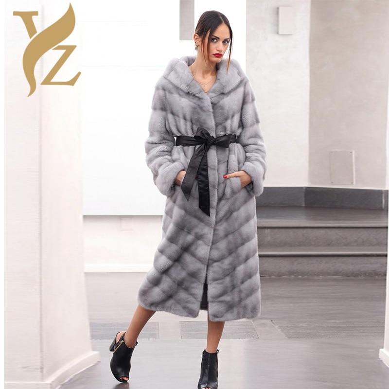 Frauen Wholeskin Luxuri Echt ntel Gro e Mit long Saphir Jacken Importierte X In Gre S Kapuze Nerzm Anpassen 110cm se 8Own0kXP