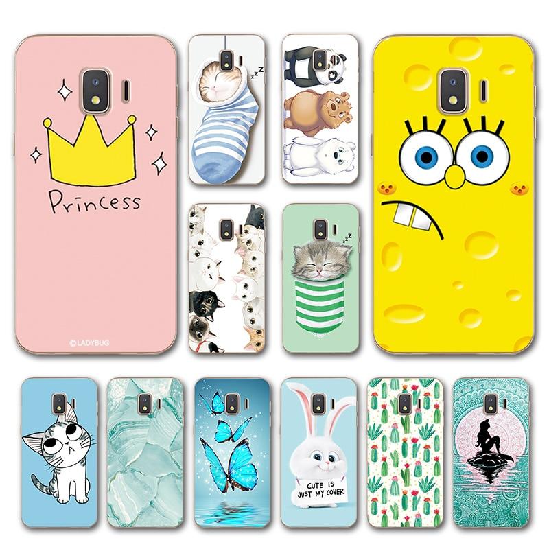 Animal Various Case For Samsung Galaxy J2 Core Fashion Flower Capa Phone Shell For SamsungJ2 Core Cover Fundas Housing SM-J260F