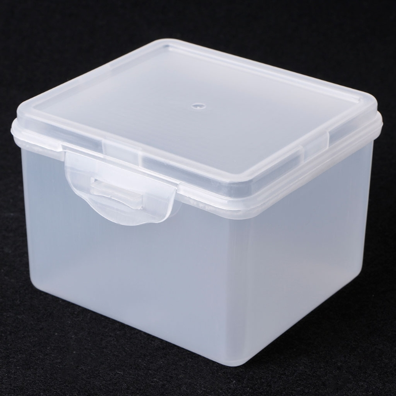 Rectangular Plastic Clear Storage Box Jewelry Beads Collection Container Organizer 9.4*8.4*6.5cm