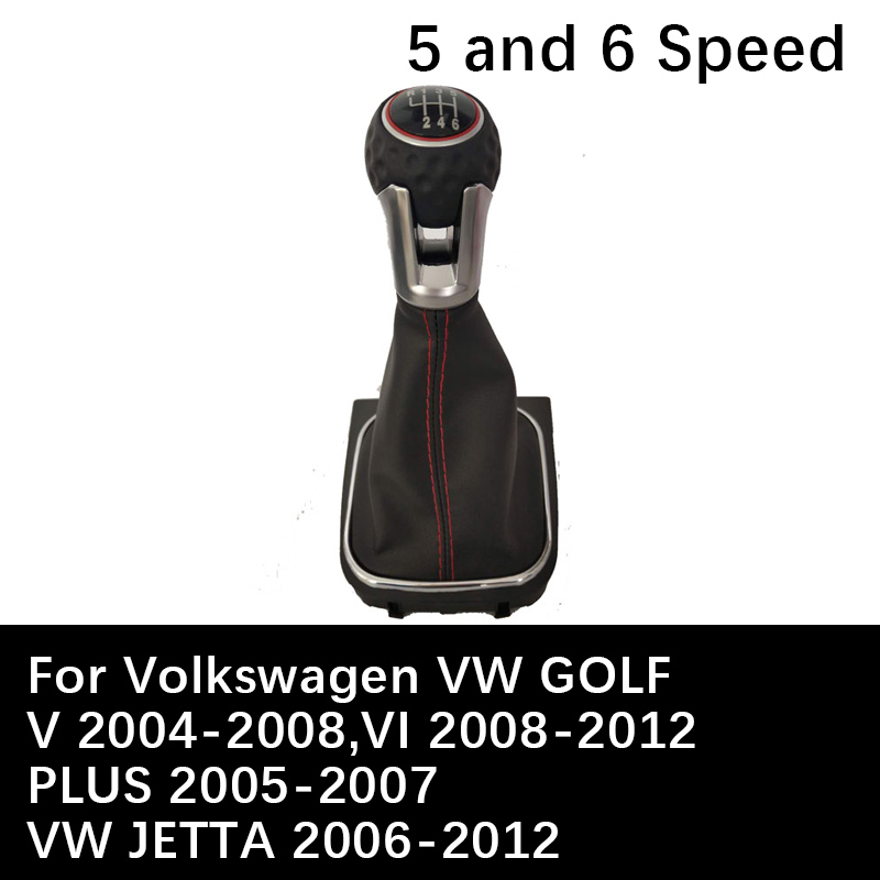 5 Speed 6 Speed <font><b>gear</b></font> Shift <font><b>Knob</b></font> For Volkswagen <font><b>VW</b></font> JETTA <font><b>GOLF</b></font> V <font><b>GOLF</b></font> VI <font><b>GOLF</b></font> PLUS Auto Car Manual Lever Shift <font><b>Knob</b></font> assessories image