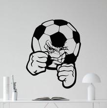 Free shipping Soccer Ball Wall Decal Football Vinyl Sticker Sport Home Decor Art Kids Boy Room