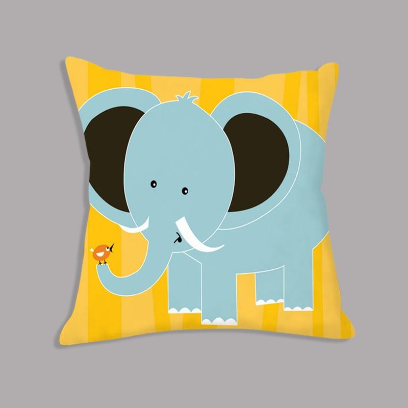 Cartoon Giraffe Lion Elephant Animal Printed White Plush Seat Cushion Throw Pillow 45x45cm Decorative Cushion Sofa Cartoon Giraffe Lion Elephant Animal Printed White Plush Seat Cushion Throw Pillow 45x45cm Decorative Cushion Sofa Kids Room