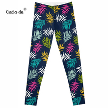 Drop ship High quality Hot !Women pants fashion milk MechanicalLEAVES COLOUR Leggings Digital printed Plus size leggings