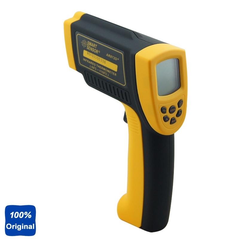 AR872D цифровой ЖК дисплей ИК лазерная точка Gun Бесконтактный промышленный термометр инфракрасный