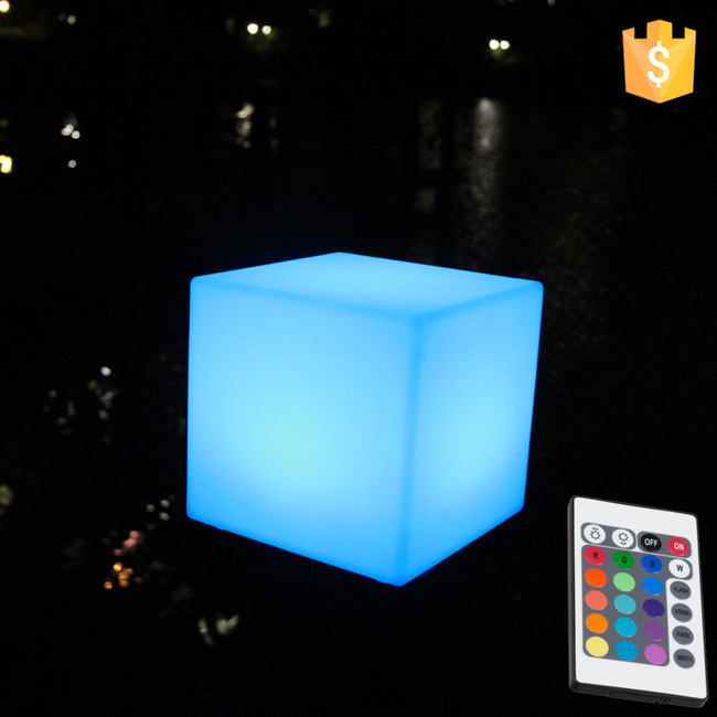 Waterproof 16color change LED Cube factory 20*20*20cm led cube children chair free shipping 8pcs/Lot led cube chair outdoor furniture plastic white blue red 16coours change flash control by remote led cube seat lighting