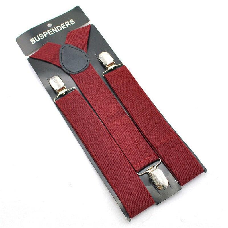 Adjustable Elasticated Adult Army Green Suspender Y Shape Clip-on Men's Suspenders 3 Clip Pants Braces For Women Belt Straps