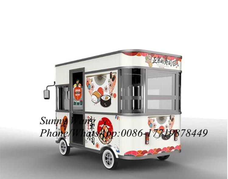 3.2m Sushi Food Van Catering Trailers Mobile Food Trucks Electric Food Truck
