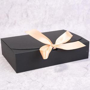 Image 3 - מרובה גודל שחור לבן קראפט נייר אריזת מתנה חבילה חתונה טובה סוכריות קופסות עם סרט