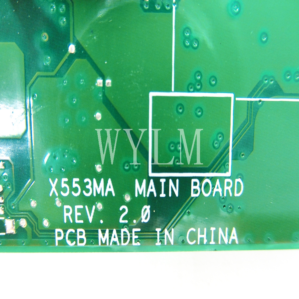 Image 3 - X553MA mainboard REV2.0 For ASUS F503M X503M F553MA F553M X553 