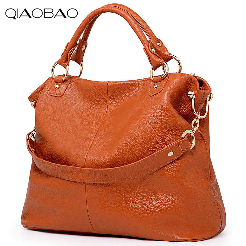 QIAOBAO 100% Genuine Leather Bag Famous Brand Bag Women Shoulder Bag FashionTotes Women Cowskin Crossbody bag famous brand bag 100