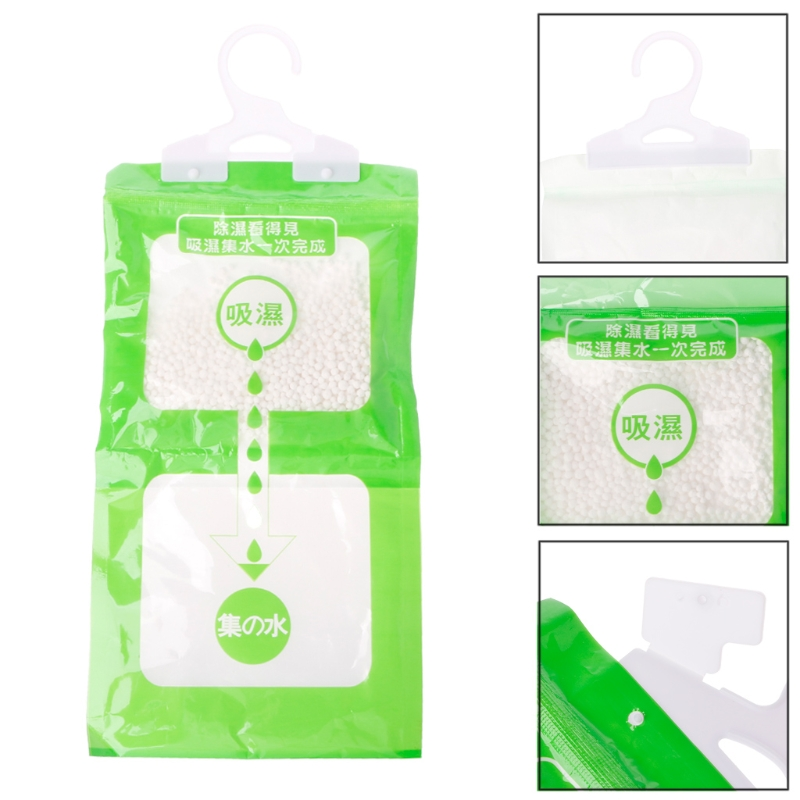 New Arrival Desiccant Bag Household Wardrobe Closet Hanging Moisture Absorbent Dehumidizer HT0809