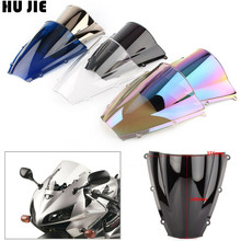 For Honda CBR600RR CBR 600RR F5 2003 2004 03-04 Motorcycle Windshield Windscreen Double Bubble black motorcycle motorbike windshield double bubble windscreen wind deflectors air flow for honda cbr1000rr cbr 1000rr 2004 2007