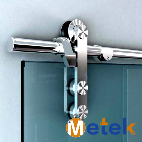 Etonnant 6.6FT Stainless Steel Glass Barn Sliding Door Hardware Track