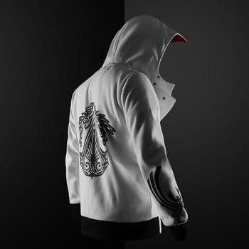 new 5 colors Assassin hoodie unisex zipper jacket Street fashion print hoodie Assassin hoodie for boys Plus size S- plus size cat print hoodie with ears