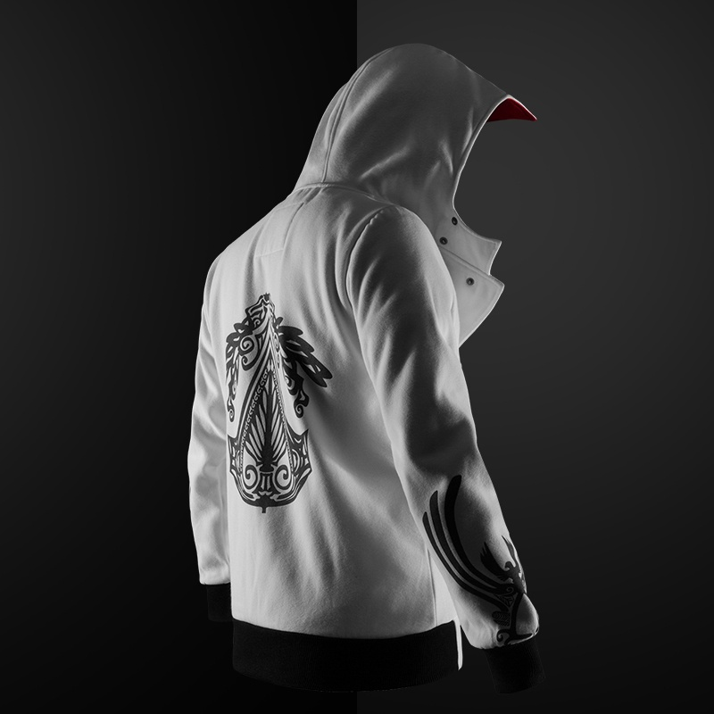 new 5 colors Assassin hoodie unisex zipper jacket Street fashion print hoodie Assassin hoodie for boys Plus size S- image