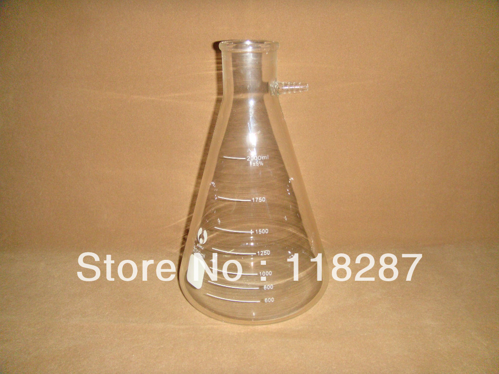 2000ML Filtration Flask Filtering Flask used on the filtration set lab glassware