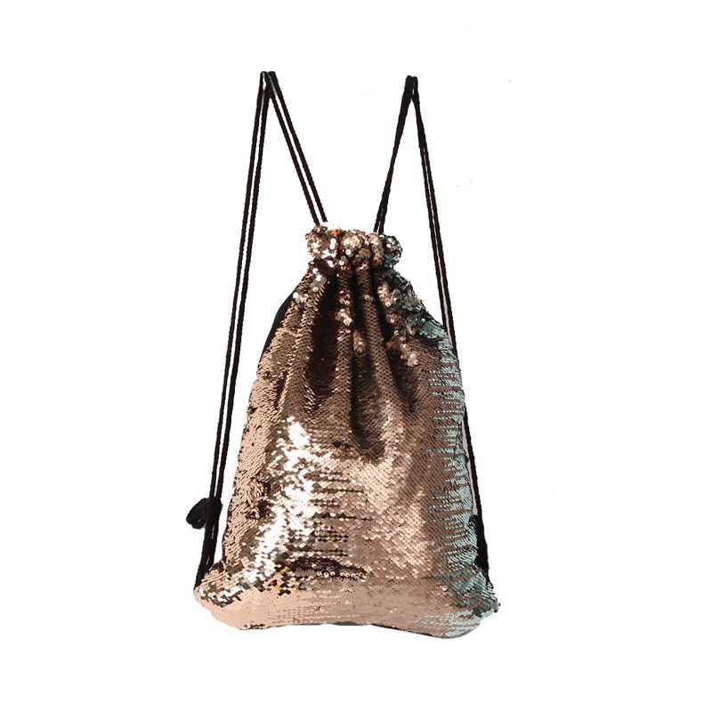 Women Sequins String Backpack Glittering Bling Bags Reversible Glitter  Drawstring Bags For Women 2018 New Women Beach Bag-in Backpacks from  Luggage & Bags ...