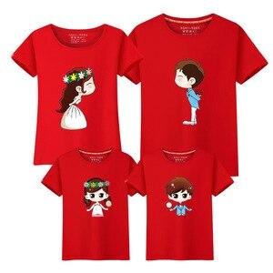 1 предмет; одинаковые комплекты для семьи; мама, папа, сын, дочь; Невеста и жених; принт для женщин, мужчин и детей; футболка для мальчиков и дев...