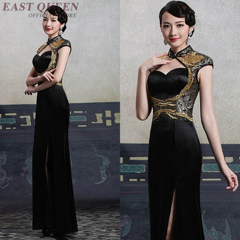 Cheongsam qipao Chinese orienal dress China female traditional Chinese clothing qi pao ladies 2018 summer dresses AA4125