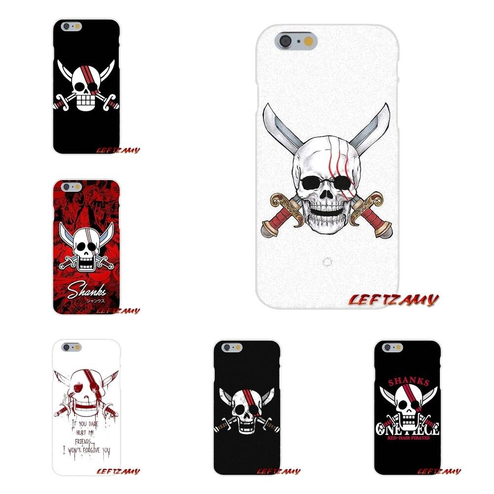 Cell Phone Bag Case For Motorola Moto G LG Spirit G2 G3 Mini G4 G5 K4 K7 K8 K10 V10 V20 V30 One Piece Red Hair Shanks Skull Flag
