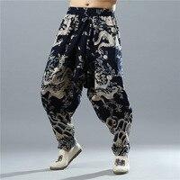 2018 Hot Sprzedaż Harem Pants Wysokiej Jogger Mężczyźni Wiatr Nowa Wiosna Bawełniane męskie Spodnie Rozmiar Drukowanie Metrosexual Luźne Haren dół