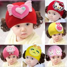 1Pcs New Sweet Newborn Baby Children Hat Cute Cotton Knitted Winter Keep Warm Infant Baby Girls Cap Crib Bebe Baby Accessories