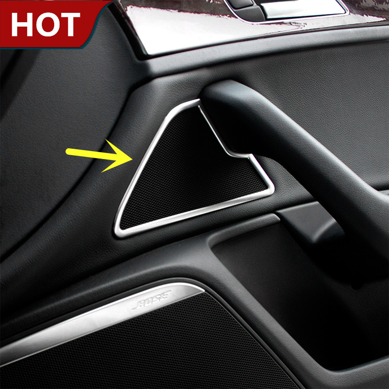 For Audi A6 C7 Interior Front Door Small Speaker Cover Trim  2012-2016 2pcs