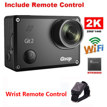 Gitup Git2 Pro Novatek 96660 1080P WiFi 2K 16 million Outdoor Sports Action Camera DVR Mini Camcorder +Wrist Remote Control