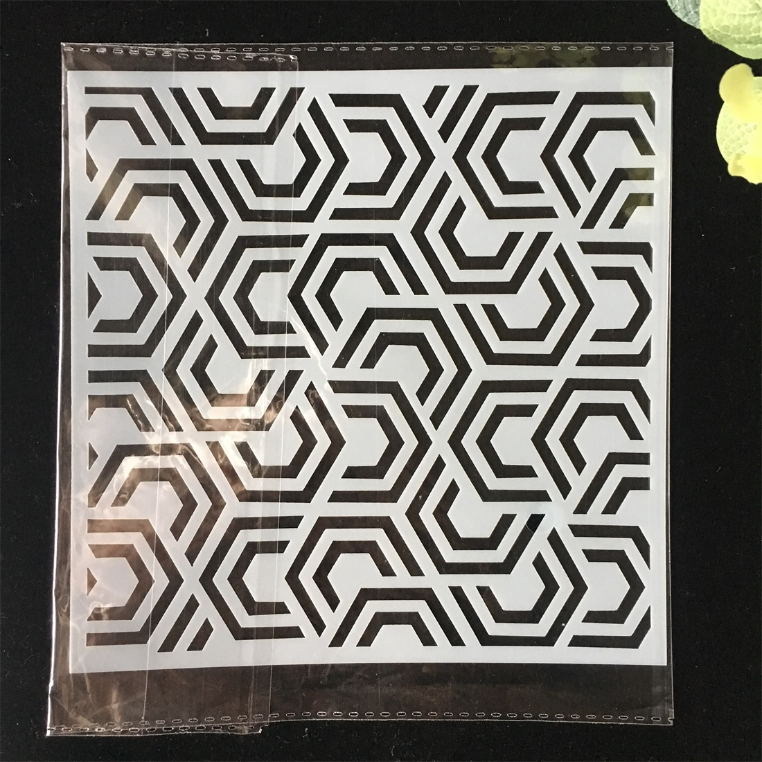 5.9inch Geometry Texture 95 DIY Layering Stencils Wall Painting Scrapbook Coloring Embossing Album Decorative Card Template