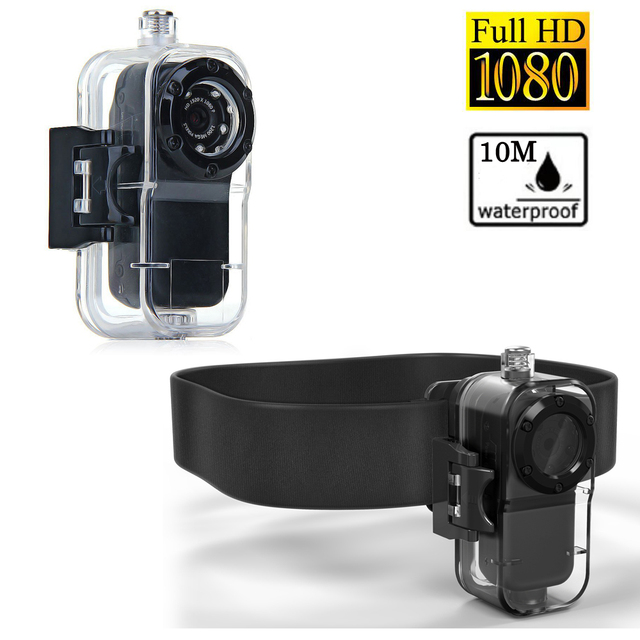 1080P Full HD Waterproof Mini Camera Sport Action Recorder with Water Resistant Case Camera Belt Mini Video Secret 30fps Camara
