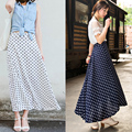 Polka Dot Skirt Chiffon Skirts Women 2017 New Fashion High Waist Dotted Skirt Free Shipping