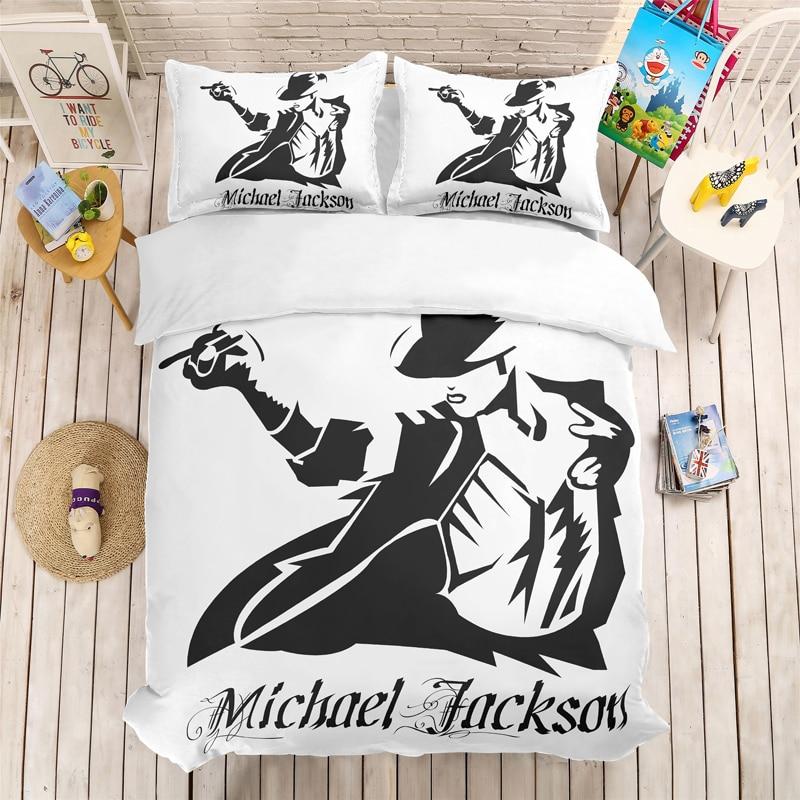 Michael Jackson 3D Bedding Set Children Room Decor Duvet Covers Pillowcases Michael Jackson Comforter Bedding Set Bedclothes