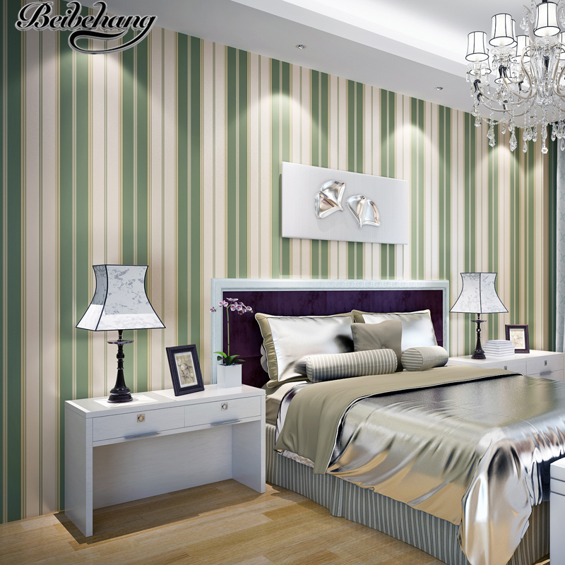 beibehang Non-woven wallpaper vertical stripes simple modern fashion study bedroom living room TV background wallpaper beibehang shop for living room bedroom mediterranean wallpaper stripes wallpaper minimalist vertical stripes flocked wallpaper