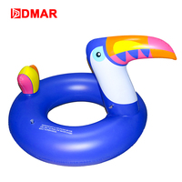 DMAR Aquatic Toys Adult Swim Ring Bluebird Large Mouth Swim Ring Adult Inflatable Seat Ms. Hot Spring Floating Ring Floating Row