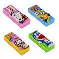 Bloques de construcción de diamantes caja de lápices de hello kitty melodía doraemon juguetes modelo mini diy ladrillos de regalos para niños de estudio