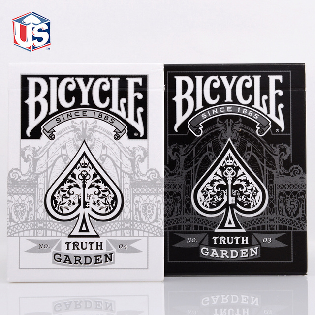 1 DECK Bicycle Truth Garden No.03 Black OR No. 04 White Deck Playing Cards AloysStudio Rare New Sealed Magic Tricks