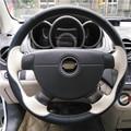 Negro Beige Cubierta Del Volante Del Coche para Chevrolet Lova Aveo Buick Excelle Daewoo Gentra 2013-2015 Chevrolet Lacetti 2006-2012