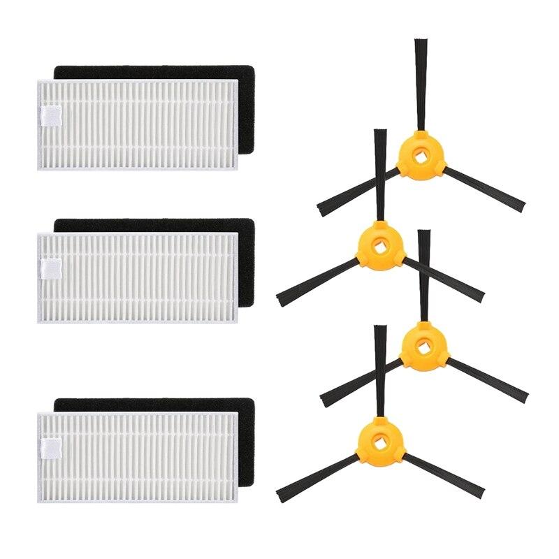 2019 Mode Stofzuiger Schuim Filters Kant Borstel Kits Voor Ecovacs Deebot N79 N79s Robotic Stofzuiger Vervangende Onderdelen Om Digest Greasy Food Te Helpen
