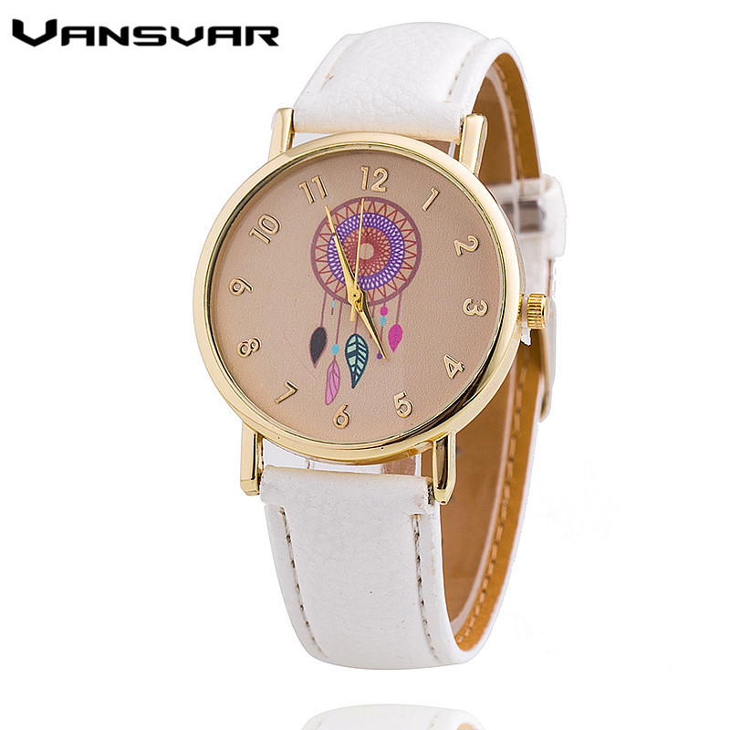 Vansvar Luxury Brand Fashion Dreamcatcher Watch Women Analog Dress Wristwatch Ladies Quarzt Watch Clock Relogio Feminino