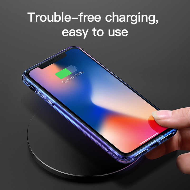 5f0c324ab6 ... Baseus Gradient Phone Case For iPhone Xs Max Xr X S R Xsmax Coque  Shockproof Soft Silicone Back