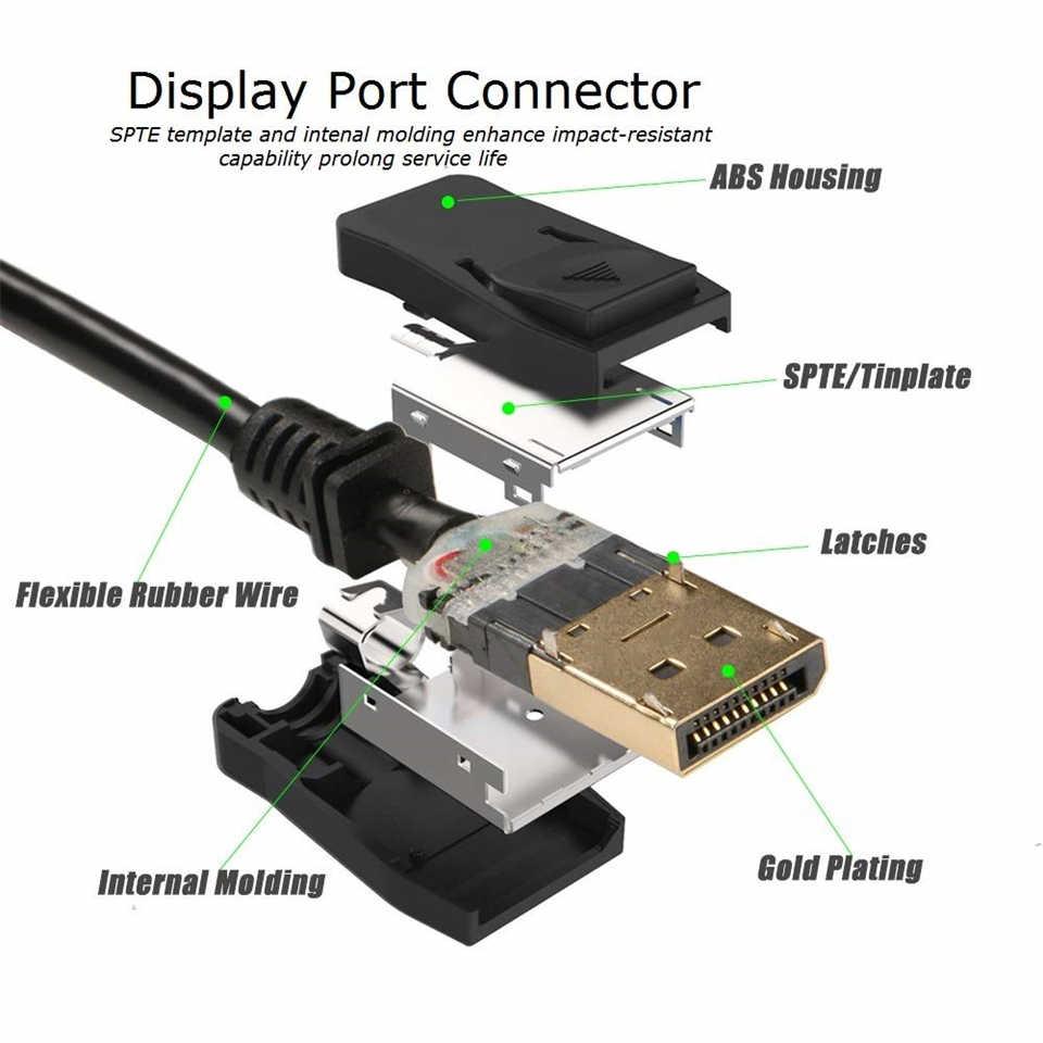 ZY-DP14 4K 8K ديسبلايبورت 1.4 كابل 1.4 فولت DP 1.4 إلى DP 1.4 كابل فيديو الصوت ذكر إلى كابل موصل ذكر ل HDTV العارض المحمول سطح المكتب