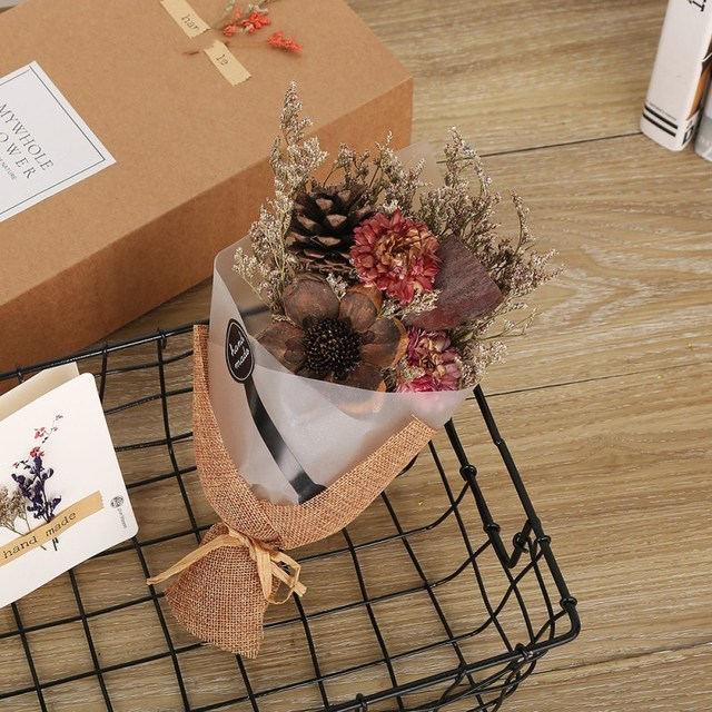 vintage combination flower dry flower bouquets gift props flower