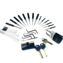 Слесарные Инструменты питания Палочки набор практика замок со сломанным ключом Удалить инструмент, инструмент для натяжения Комбинации дл...