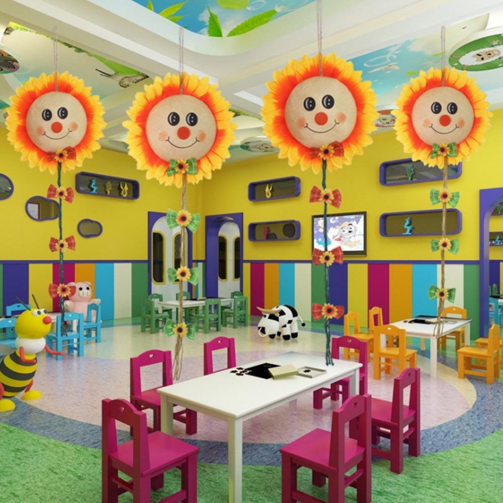 Colorful Kindergarten Decoration Sunflower Smiley Pendant ...