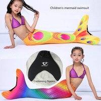 Trẻ em của áo tắm Nàng Tiên Cá cá mô phỏng quy mô hồ suit với dày hyperelastic Leica trẻ em