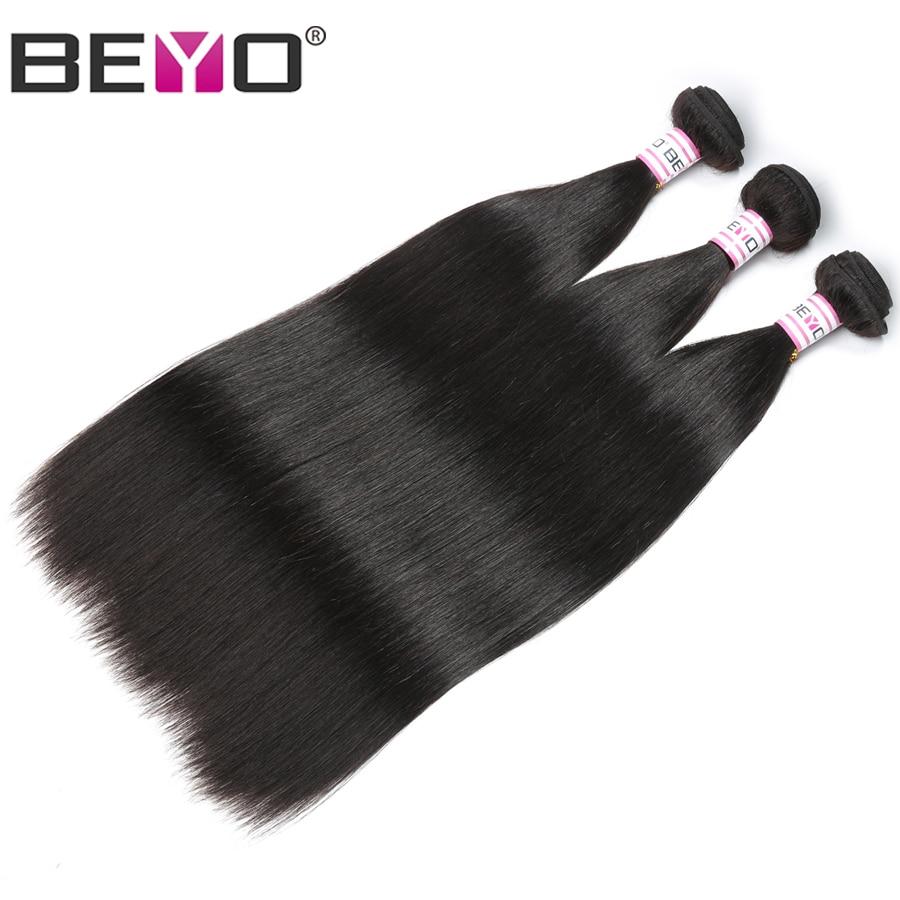 Beyo Hair Peruvian Straight Hair Bundles Human Hair Extensions Double Weft Non Remy Hair Weave Bundles