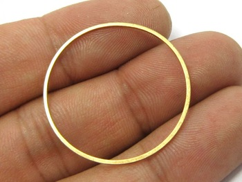20pcs Brass pendant Round circle 40x1mm Raw brass findings connectors