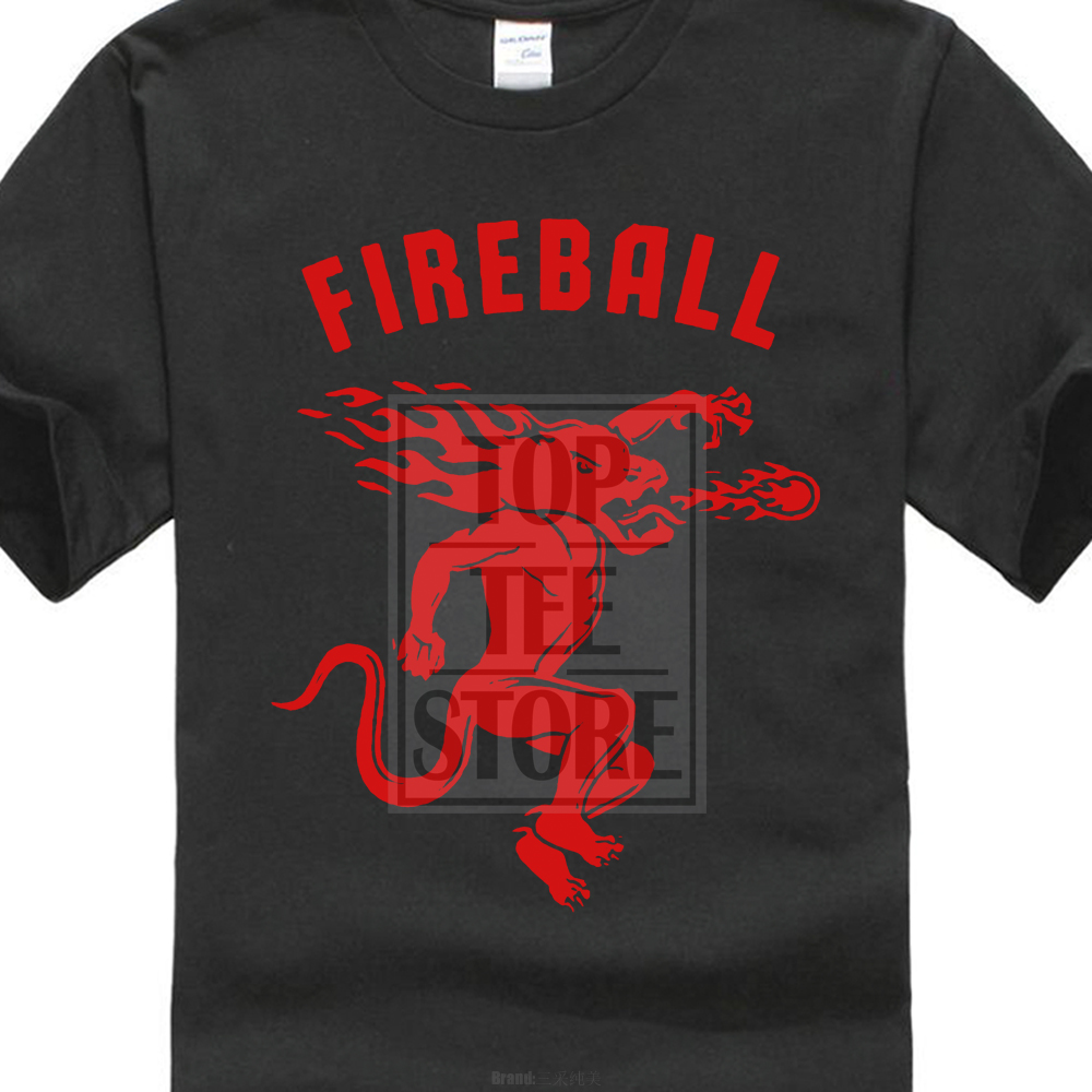 Cotton Cool Design 3D Tee Shirts Premium Crew Neck Short Sleeve Rosar MenS Fireball Cinnamon Whisky O Neck Short Sleeve T Shirt